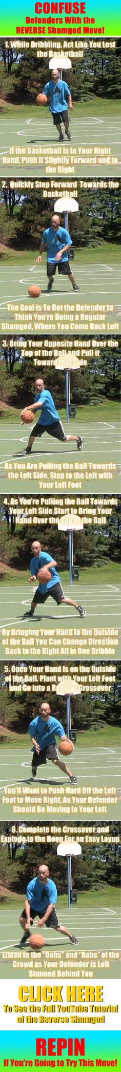 Sick basketball move to totally confuse defenders! #basketball #basketballmoves