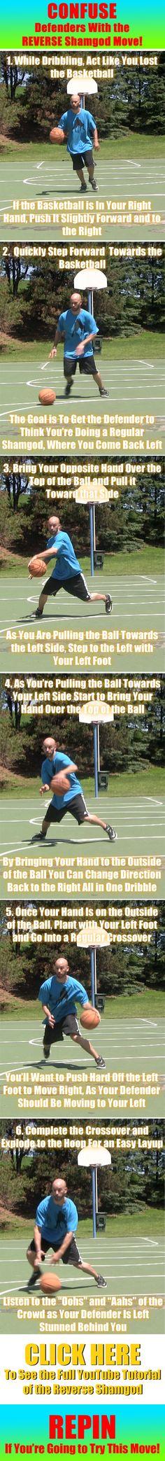 Sick basketball move to totally confuse defenders! #basketball #basketballmoves