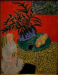 Henri Matisse - Interieur met zwarte varen