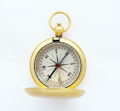 1920s Superb Gilded Pocket Compass / by TheCompassCollector