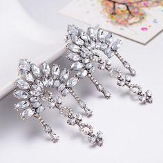 http://rubies.work/0202-ruby-rings/ Bridal Drop Earrings Fashion Jewelry Luxury Dangle Crystal Earrings for Women FSE021