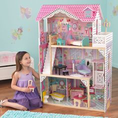 Kid Kraft Annabelle Dollhouse with Furniture - 65079
