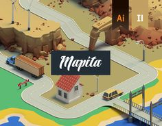 """Check out this @Behance project: """"Isometric 3D Map Builder - Mapita"""" https://www.behance.net/gallery/53271231/Isometric-3D-Map-Builder-Mapita"""