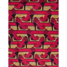 Nigerian Quilting Real Wax Fabric Fuschia Shoes Pattern 6 Yards For Dress rw210979