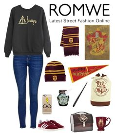 """""""ROMWE Contest"""" by alyroxmaxxx ❤ liked on Polyvore featuring Topshop, adidas and Casetify"""