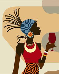 New Black Art Painting African Americans Living Rooms Ideas African Wall Art, African Artwork, African Art Paintings, Black Art Painting, Black Artwork, Woman Painting, African American Art, African Women, Afrique Art