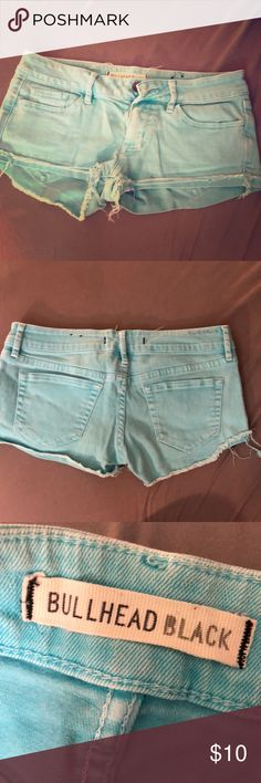 Bullhead Black Blue Low Rise Jean Shorts Great condition! Bright blue color. No stains or wear. Low rise. Bought from Pacsun. Bullhead Shorts Jean Shorts