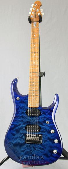 Ernie Ball Music Man JP15 Blueberry Burst Limited Edition Guitar #256 Gretsch, Ibanez, Epiphone, John Petrucci, Signature Guitar, Play That Funky Music, Dream Theater, Guitar Collection, Vintage Music