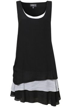 Black Layered Bottom Tunic on Womens Clothing