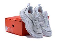 new style 58b0b d834d Mens Womens Shoes Nike Air Max 98 White Pure Platinum Reflect Silver 640744  106 White White