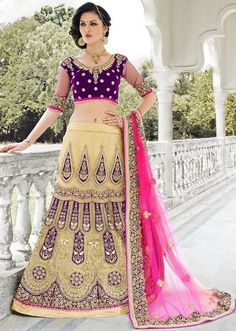 Gold Zardosi Work Cream Net Georgette Embroidered Designer Lehenga @mokshafashions Select From Our Widest Range of #WeddingLehengas  Shop Online: http://mokshafashions.com/lehenga-wedding-collection.html?p=2  #Gift #weddinggift #giftforher #giftideas #lovegift #sale #fashions #newarrivals