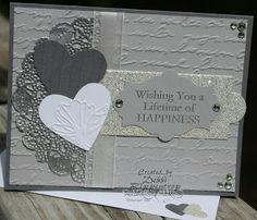 Absolutely GORGEOUS wedding card! Debbi's Design Stamping: Silver Wedding