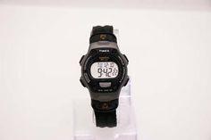 Black Timex Ironman Sports Watch for Men and Women Digital Display – Vintage Radar Sport Watches, Watches For Men, Timex Expedition, Timex Indiglo, Timex Watches, Rubber Watches, Watch Model, Timeless Beauty