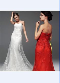 Off Shoulder Pleated Lace Fishtail Train Wedding Dress As the Picture XL12112711.http://www.clothing-dropship.com