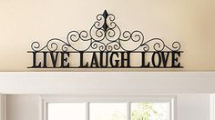 CTD Store Elegant Metal Scroll Live Laugh Love Wall Art - Home Decor Accent Wooden Wall Plaques, Metal Wall Decor, Hanging Wall Art, Metal Wall Art, Iron Wall, Elegant Home Decor, Stylish Home Decor, Cheap Home Decor, Stylish Interior