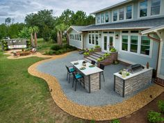 Modern Backyard Landscaping Ideas Medium Size Of Century Front Yard Patio Pinter Large Backyard Landscaping, Small Backyard Design, Modern Backyard, Backyard Patio Designs, Backyard Ideas, Patio Ideas, Landscaping Ideas, Small Patio, Nice Backyard