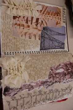 Rebecca Herron DHSFG Textiles A Level Textiles Sketchbook, Sketchbook Layout, Gcse Art Sketchbook, Fashion Sketchbook, Sketchbook Inspiration, Art Alevel, Anatomy Art, Fabric Manipulation, Art Portfolio