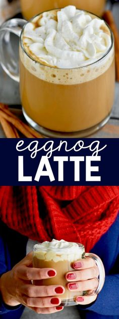 This Eggnog Latte recipe is like having Starbucks at home! Make your favorite Starbucks seasonal offering right in the comfort of your own home.