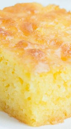 Lemon Jello Cake ~ Moist and delicious