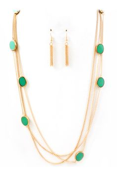 Paris Green Leanna Necklace | Emma Stine Jewelry Necklaces