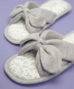 Little flowers contrast open slippers - OYSHO
