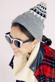 Patterned Top Knit Bell Beanie from en.aura-j.kr // $14.70