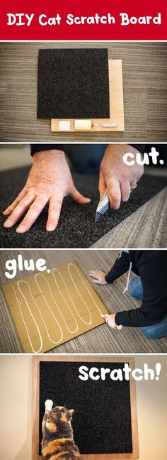 DIY scratch board for your Cat...