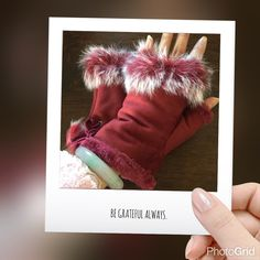 Faux leather rabbit fur wrist fingerless gloves Wine red color Cute & warm gloves protect your hands from cold winter outdoor you can do activities freely especially when you surf the internet brand new tag on bag PRICE IS FIRM unless you bundle  5 pairs available Accessories Gloves & Mittens