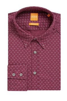 fbc752032 Hugo Boss Stretch Cotton Button Down Shirt, Extra Slim Fit | Chill - M  Orange