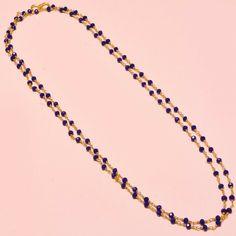 Handmade Jewelry Designer Red Garnet Quartz Sterling Silver Overlay Necklace 17-18