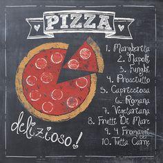 Pizza Posters van Jo Moulton bij AllPosters.nl