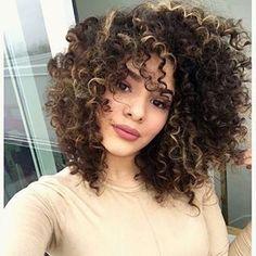 mechas cabelo cacheado curto - Pesquisa Google
