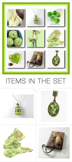 """""""Etsy Collage - Verde"""" by rosa-shawls ❤ liked on Polyvore featuring art and vintage"""