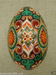 Ukraine Pysanka by Oleh K GOOSE Easter Egg Hutsul Pysanky Ukrainian | eBay