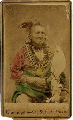 Che-nope - Sac & Fox - circa 1870                                                                                                                                                                                 More