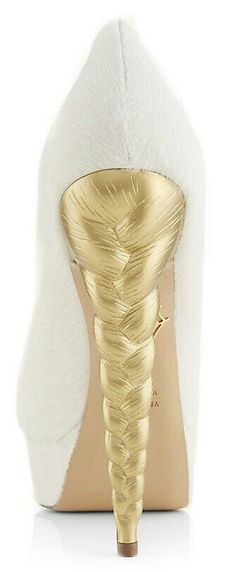 Extreme shoes - braided golden heel