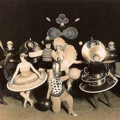 "Oskar Schlemmer, Costumes for ""Das triadische Ballett"" 1922"