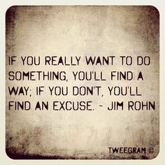 Boy, this hits the nail right on the head!  How many times do we think of excuses why we can't..  when instead we should be saying we can!