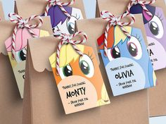 My Little Pony Lollie Bag Tags Printable Loot Bag Tags / My