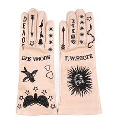 Купить Кожаные перчатки Gucci 501126 118/0A6 для женщин , цвет бежевый в интернет-магазине брендовой одежды, обуви и аксессауров Helen Marlen