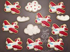 Royal icing cookies, cloud cookies, romantic cookies, decorated cookies, royal icing roses, decorated sugar cookies, airplane cookies, love cookies, valentine cookies