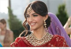Sonam Kapoor Hairstyles for Sarees