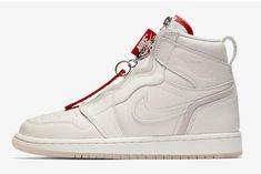 69273f513ed7 Vogue x Air Jordan 1 High Zip AWOK Sail Sail-University Red BQ0864-106