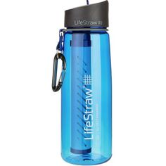 You always felt like your filter was a middle man between your water bottle and the river, so cut out the middle man and use the LifeStraw Go 2-Stage Filtration Water Bottle. This water bottle features a built-in filtration system that filters water as it flows through the straw when you're drinking. The carbon capsule eliminates waterborne bacteria and protozoan for one hundred liters of water, sourced directly from the cool waters that you love to backpack by.