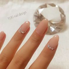 65 gorgeous gel nail designs with gems sparkle for you check them out! 20 65 gorgeous gel nail designs with gems sparkle for you check them out! Neutral Nails, Nude Nails, Acrylic Nails, Bridal Nails, Wedding Nails, Diy Ongles, Gem Nail Designs, Nails Design, Nagellack Design
