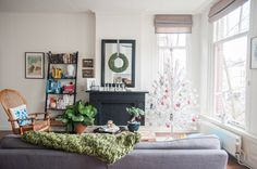 A Bohemian-Inspired Dutch Canal House — House Tour (Apartment Therapy Main) Apartment Therapy, Paper Christmas Ornaments, Christmas Crafts, Custom Glass, Burke Decor, Winter Garden, House Tours, Small Spaces, Interior Design