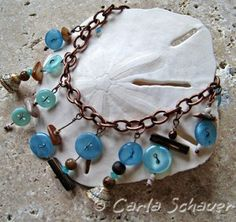 Beachy Button Bracelet with instructions!