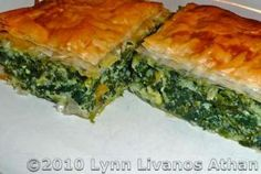 The Best Spanakopita (Greek Spinach Pie With Feta): Spinach and Feta Cheese Pie - Spanakopita