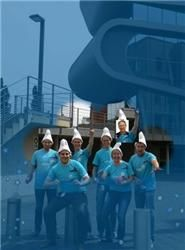 Living the vida azul': the Rhodium Smurfs from the company Umicore were looking *ing awesome at the Hercule Trophy .