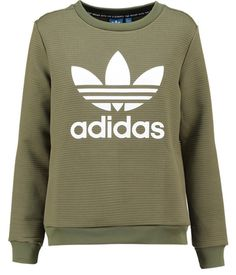 Olive green Adidas Original Sweater, autumn 2016 women's collection